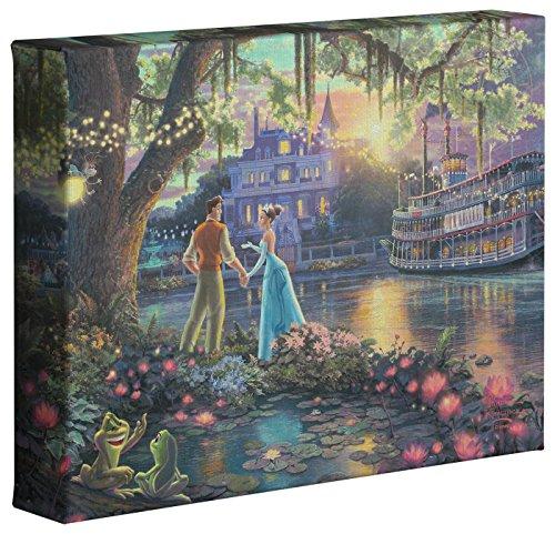 Thomas Kinkade Disneys Princess and The Frog 8 x 10 Gallery Wrapped Canvas