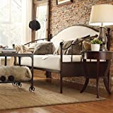 TRIBECCA HOME Andover Upholstered Curved Top Cherry Brown Metal Daybed by Tribecca Home