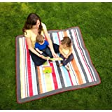 JJ Cole JEMGR Outdoor Mat, Gray/Red