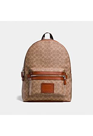 67aee43bf339 COACH Men s Academy Backpack in Signature Coated Canvas Beige One Size