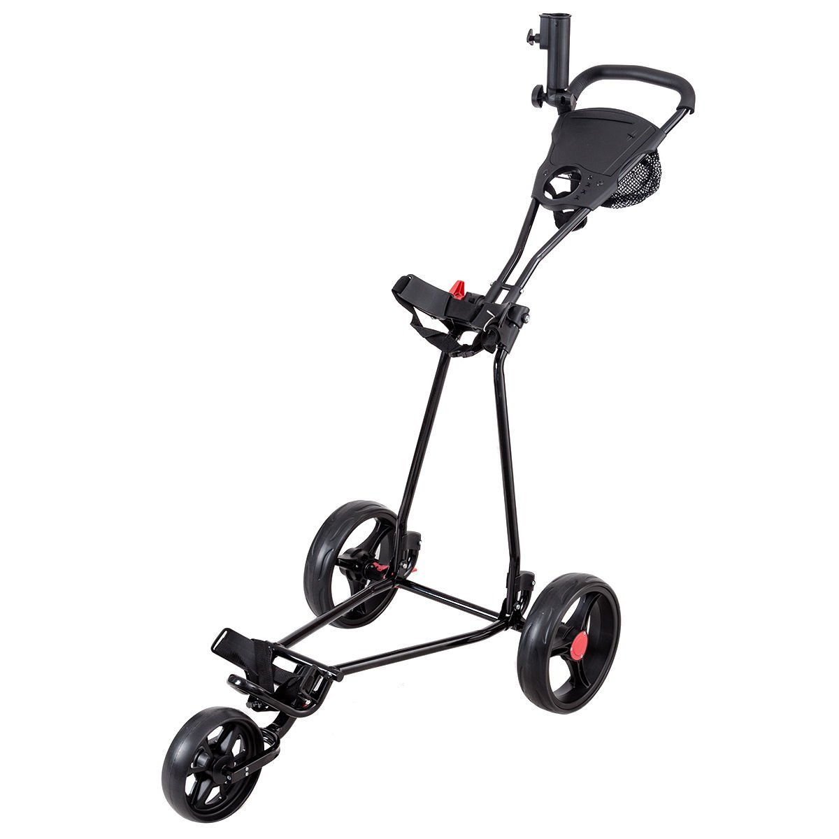 Tangkula Golf Cart 3 Wheels Folding Lightweight Golf Club Push Pull Cart Trolley