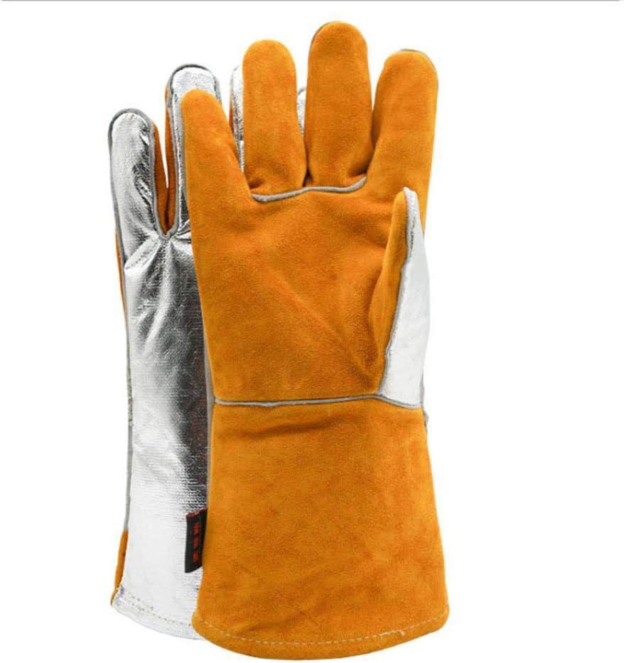Guantes de aislamiento alta temperatura resistente aluminio fundici/ón ign/ífugo protecci/ón contra la radiaci/ón barbacoa guantes