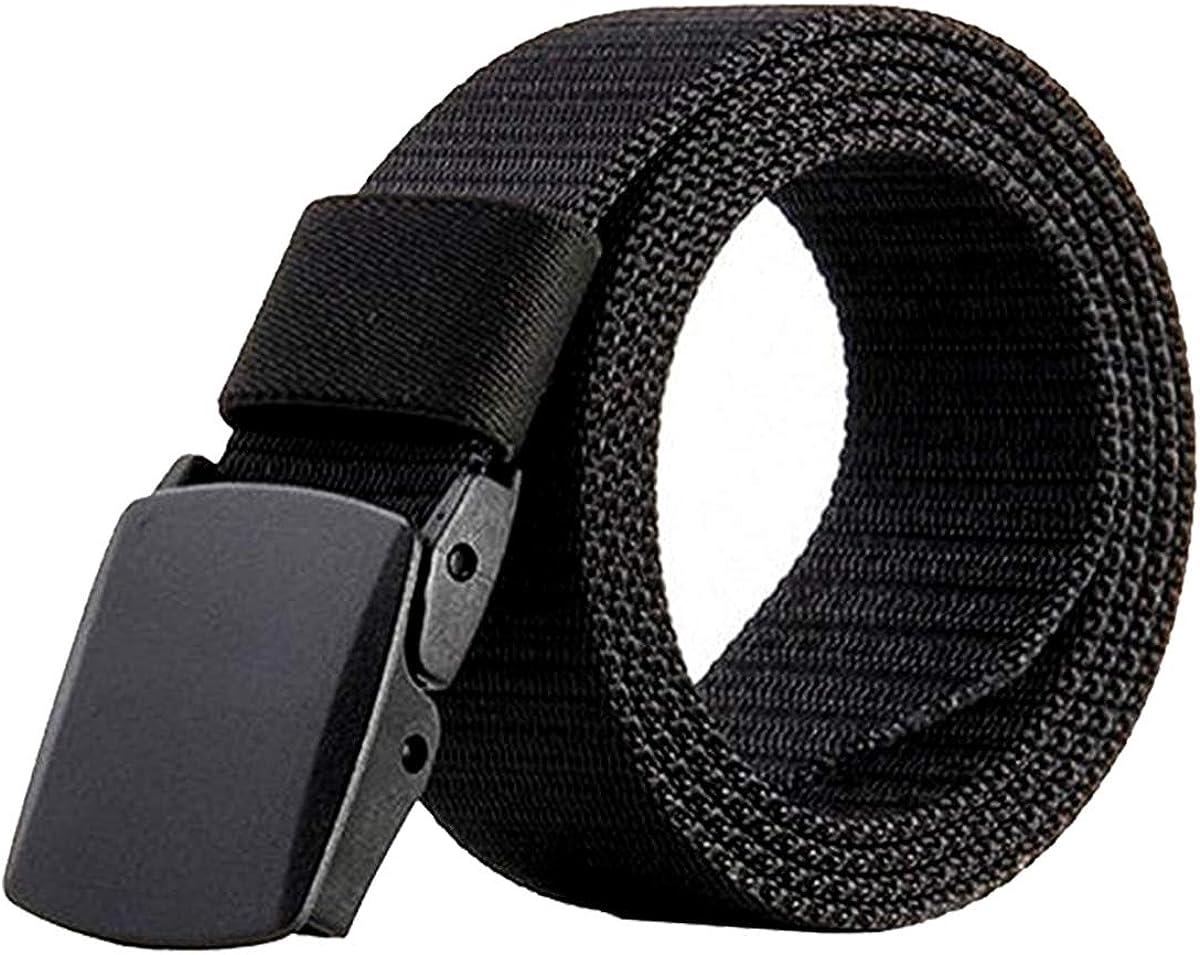 Dokpav Cinturón para Hombre, Nylon Canvas Military Táctico Cintura Para Hombres con Hebilla de Plástico,140cm Largo