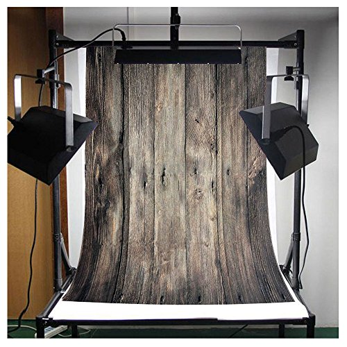 FUT Photo Studio Collapsible Wooden Theme Retro Photography background Grade AAAAA LESS CREASE Vinyl Cloth Backdrop Best for Children,Newborn,Baby,Kids,Wedding,Family Decoration(Updated - Studio Retro