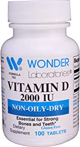 Easy Digest Vitamin D-3 2,000 IU Natural Form of Vitamin D3, High Absorption