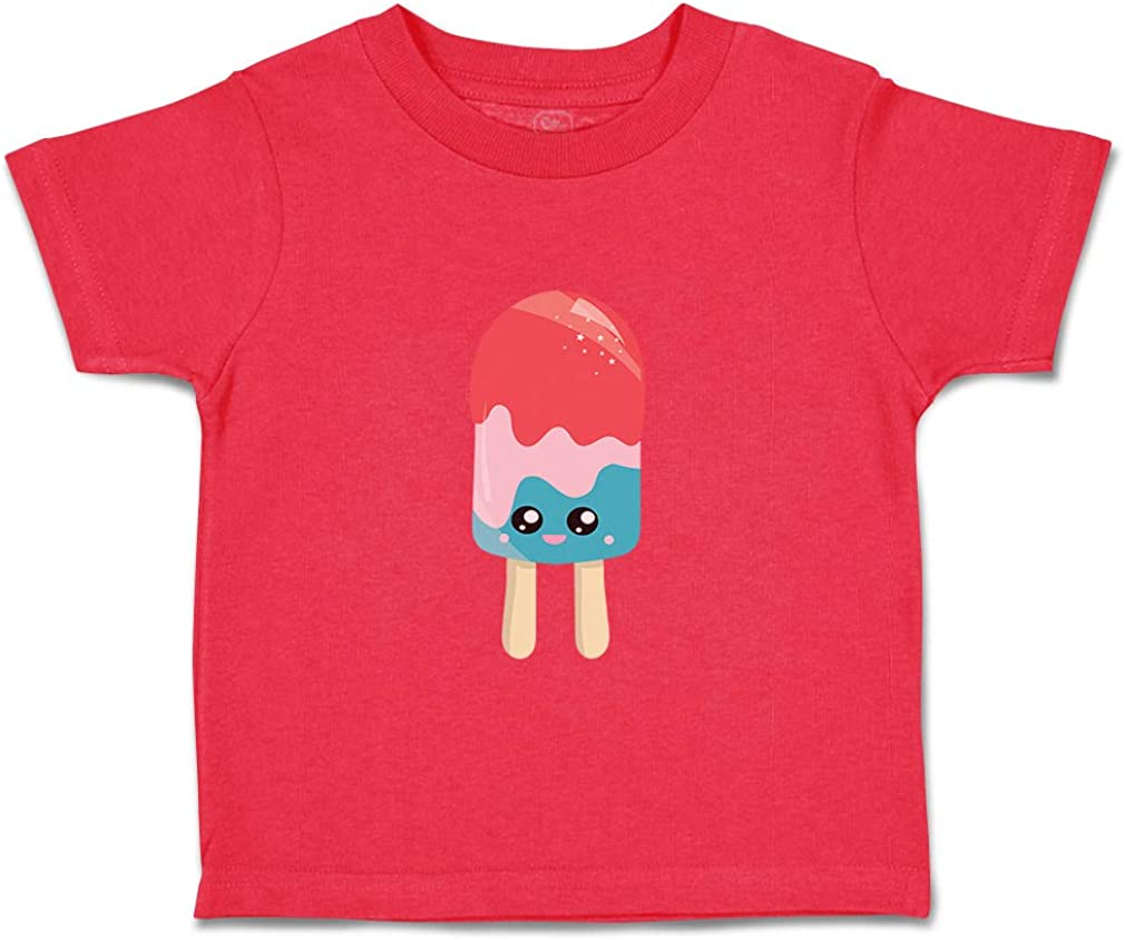 Custom Baby /& Toddler T-Shirt Red Pink Blue Popsicle Eyes Boy Girl Clothes