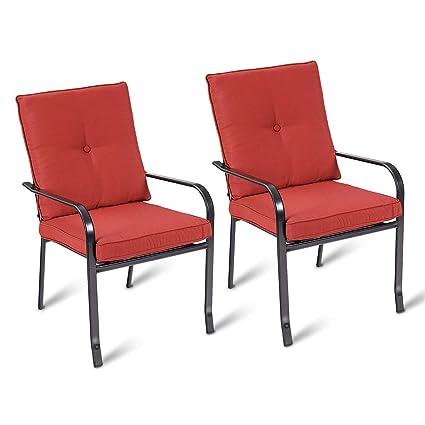 Amazon.com: Casart - Juego de 2 sillas de comedor para patio ...