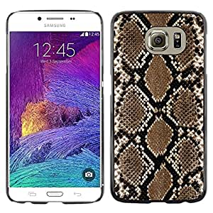 Paccase / Dura PC Caso Funda Carcasa de Protección para - Snake Pattern Wallpaper Art Brown Black - Samsung Galaxy S6 SM-G920