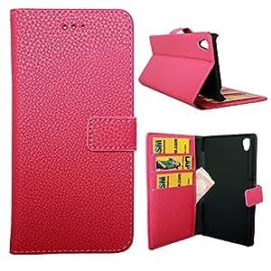 Lapinette WAL-XP-Z3-ROSE - Funda de piel para Sony Xperia Z3, color rosa