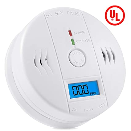 Smoke Detector Lcd Blue Backlight Display Co Smoke Leakage Warning Sensor Carbon Monoxide Gas Detection Alarm Carbon Monoxide Detectors