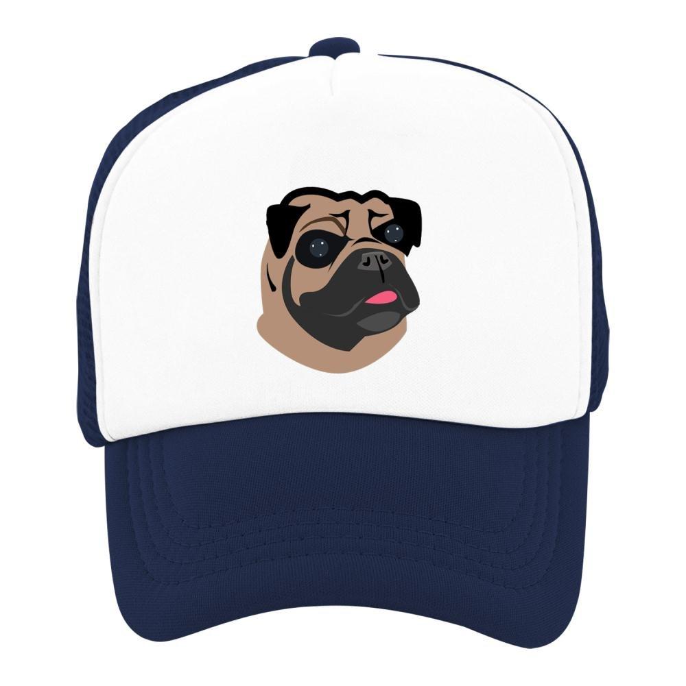Kids Baseball Cap Cartoon Pug Dog Classic Mesh Outdoor Hat