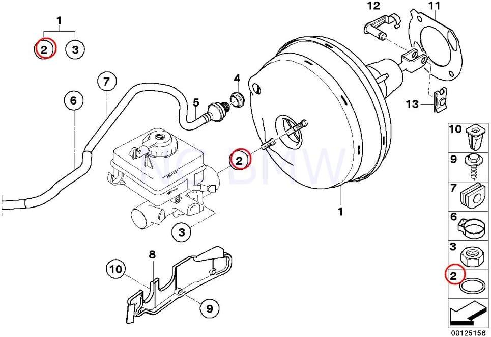 BMW Genuine Brake Master Cylinder O-Ring