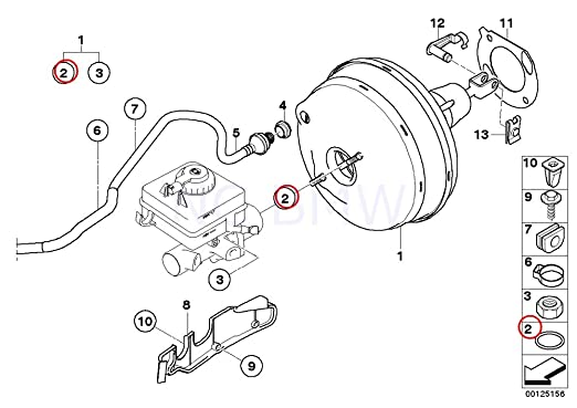 Amazon Com Bmw Genuine Brake Master Cylinder O Ring Automotive
