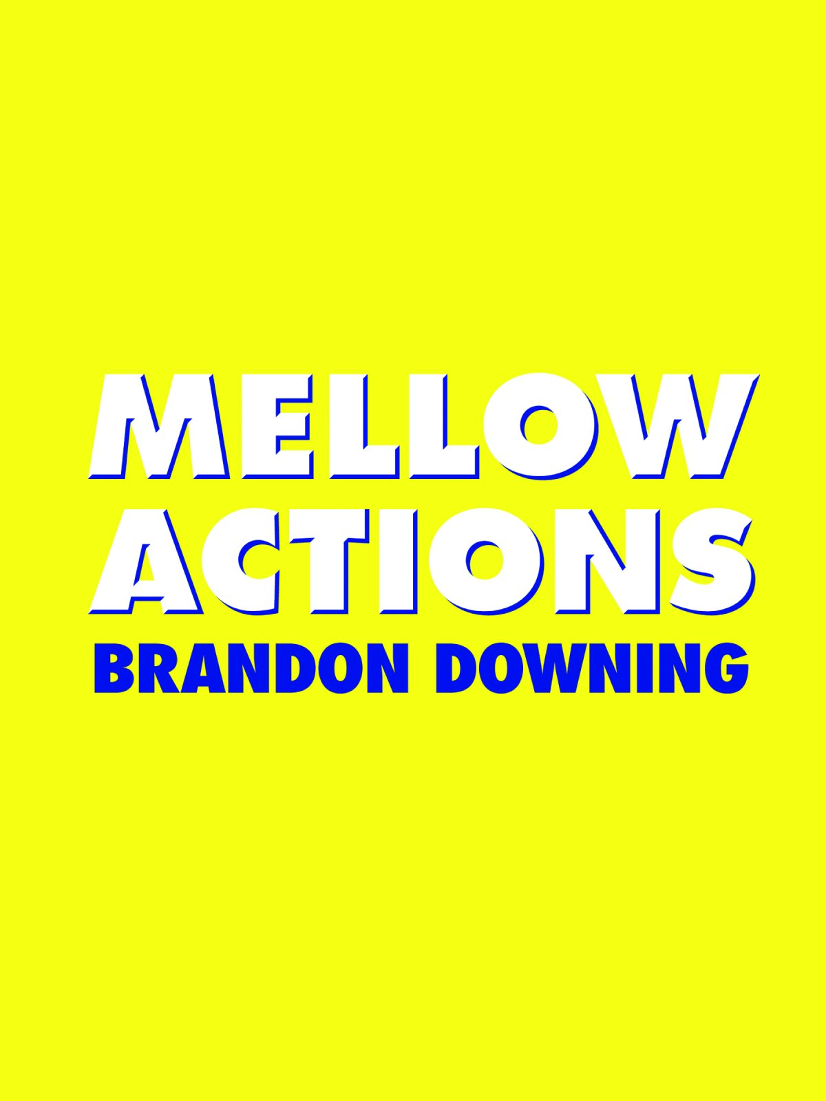 Mellow Actions (Fence Modern Poets) PDF