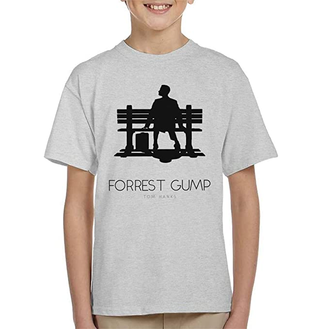 Forrest Gump Bench Movie Silhouette Kids T-Shirt