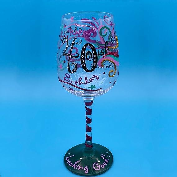 GTT pintado a mano Copas de vino, vino tinto vino glass-ideal container-it es el mejor regalo para los amantes, Parejas, padres, amigos y colegas.