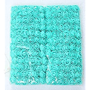 LA Decor Supply 144 Pieces Mini Artificial Realistic PE Flower Petals Real Looking Rose with Stem Chiffon for for Decorations, Wedding, Home, Baby Shower, All Other DIY Craft Project 5