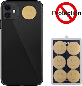 EMF Protection Cell Phone Sticker,Layoo EMF Blocker for Mobile Phones,Anti Radiation Protector Stickers for Phone,iPad, MacBook, Laptop and All Electronic Devices (6Pcs)