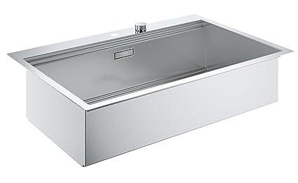 Lavello Cucina 90 Cm.Grohe Lavello In Acciaio Inox K700 Filotop Amazon It Fai Da Te
