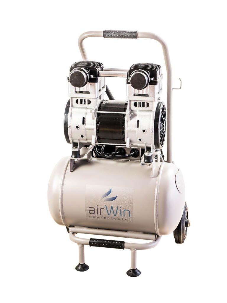 Airwin Silencioso unidad de aire comprimido Compresor sin aceite 1,5 kW/230 V, 8 bar, caldera (20 L, 250 L/min Potencia de aspiración: Amazon.es: Bricolaje ...