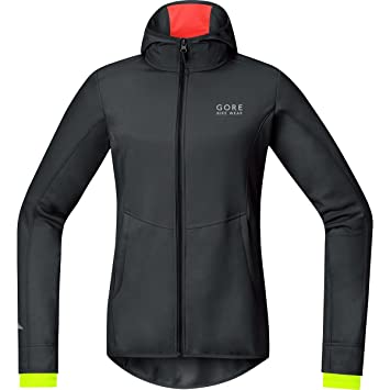 Gore Bike Wear Windstopper - Chaqueta con Capucha Soft Shell de Ciclismo para Mujer, Color
