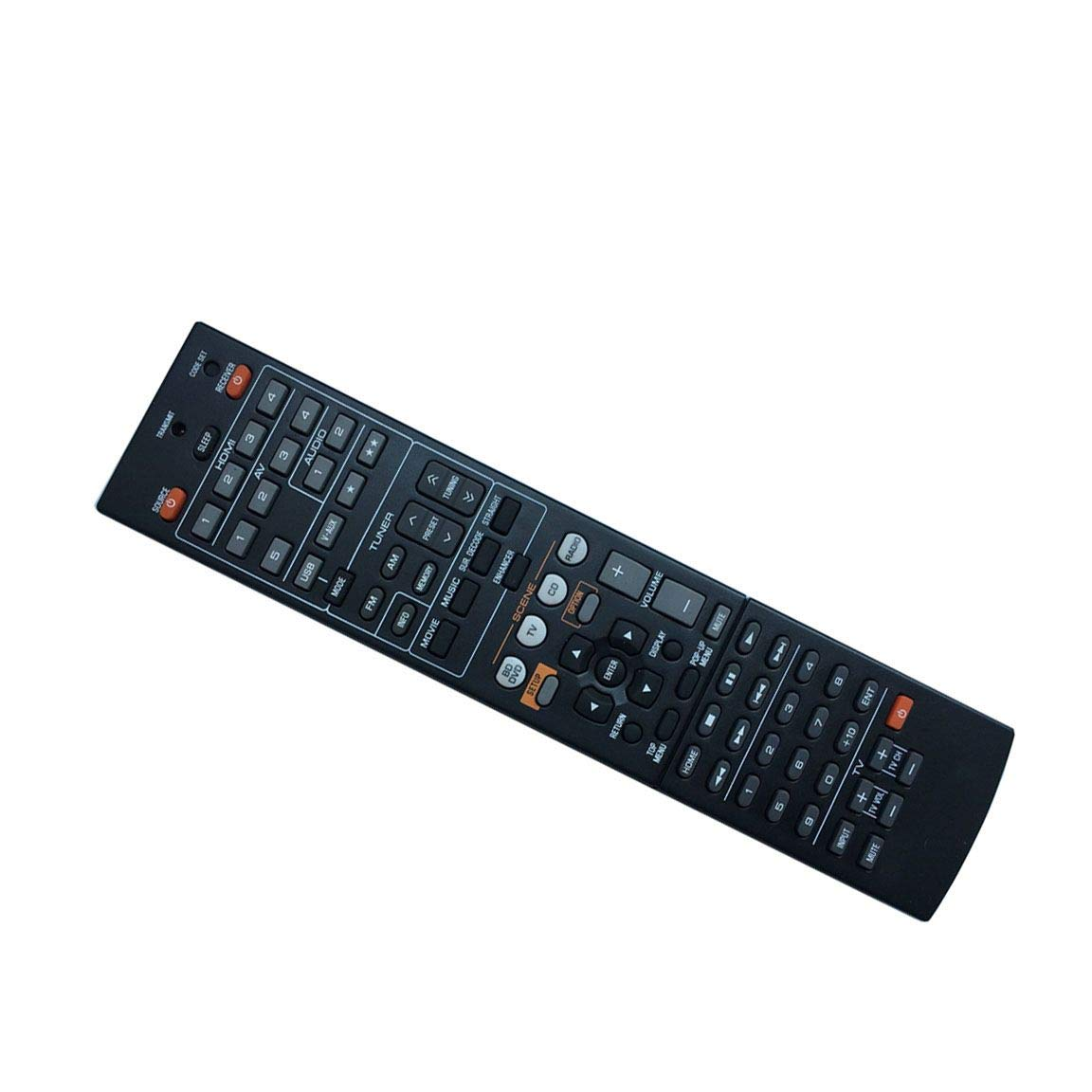 Easy Replacement Remote Control Fit for Yamaha YHT-693BL YHT-893 HTR-6063 RX-V675 RX-V373 AV A/V Receiver by EREMOTE
