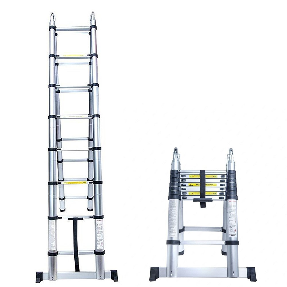 Senrob Aluminum Telescopic Extension Ladder,Extendable Folding Multi ...