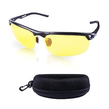 Hootracker Gafas de Visión Nocturna Polarizadas Gafas de Sol Visión Nocturna Antideslumbrante Protección UV400 Conducción Pesca