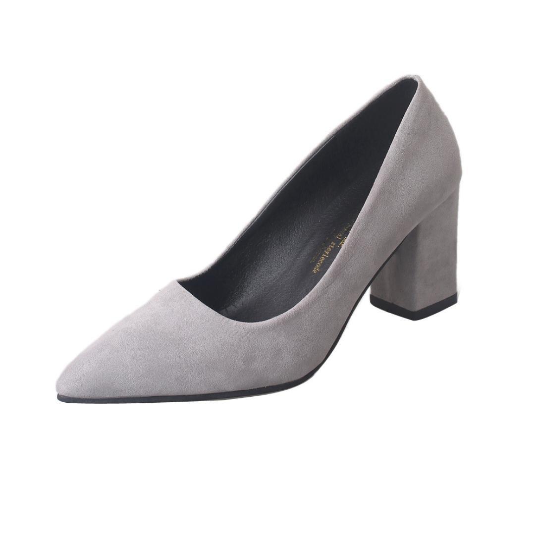 05d55925a93b0 Amazon.com : Ecurson Women Sexy Shoes High Heels Thick Chunky Heels ...