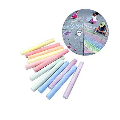 InKach Sidewalk Chalk 60 Count, Kids' Drawing Colored Chalks Paint Outdoor Toys Driveway Chalk Pens Art Play Set Easter Gifts (Assorted Color, 60 Count): Toys & Games