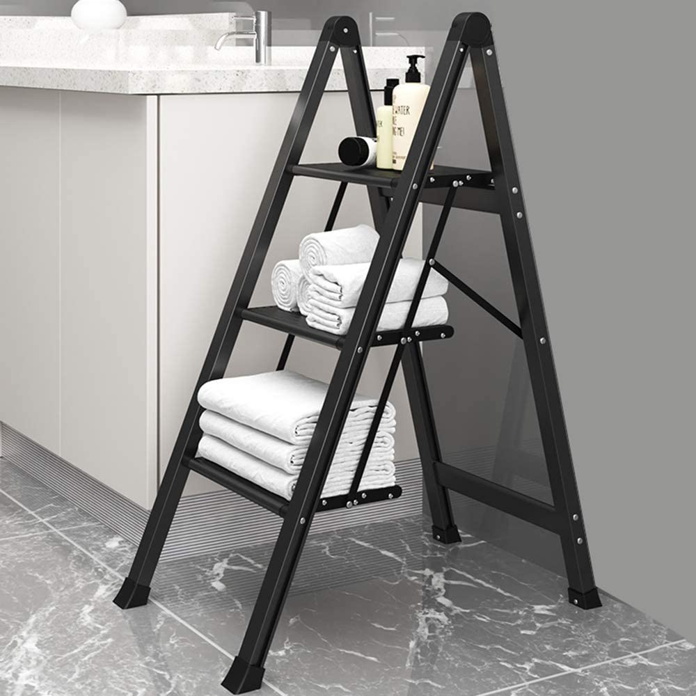 Escalera plegable, Mini taburete pequeño de cocina, Escalera ...