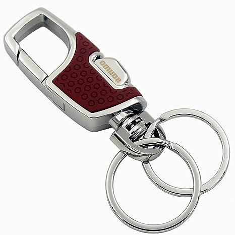 Llavero Resistente con Soporte de Liberación Rápida para Cinturón y Giro Clip(vino tinto)