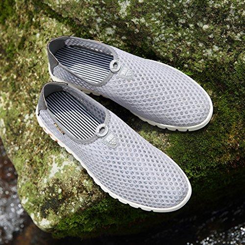 Wasserschuhe GreatParagon Atmungsaktives Herren oberfläche Aquaschuhe Schnell Trocknend on Schuhe Sneaker Hausschuhe Mesh Grau Slip Strandschuhe Surfschuhe 66r0Hq