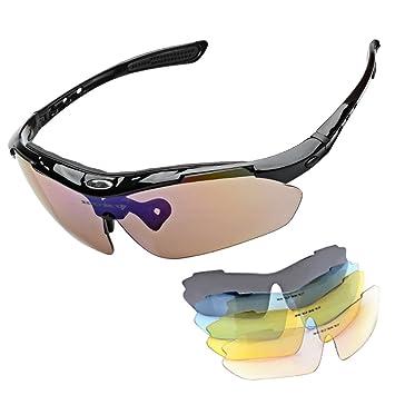 4564abb840 Polarized Sports Sunglasses UV400 Protection Sweatproof Non-slip Sun  Glasses Set with 5Pcs Eyeglasses Lens