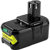Powilling 5,0 Ah 18 V Li-ion ersättningsbatteri för Ryobi 18 V ONE+ P108 P107 P102 P103 P104 P105 verktyg