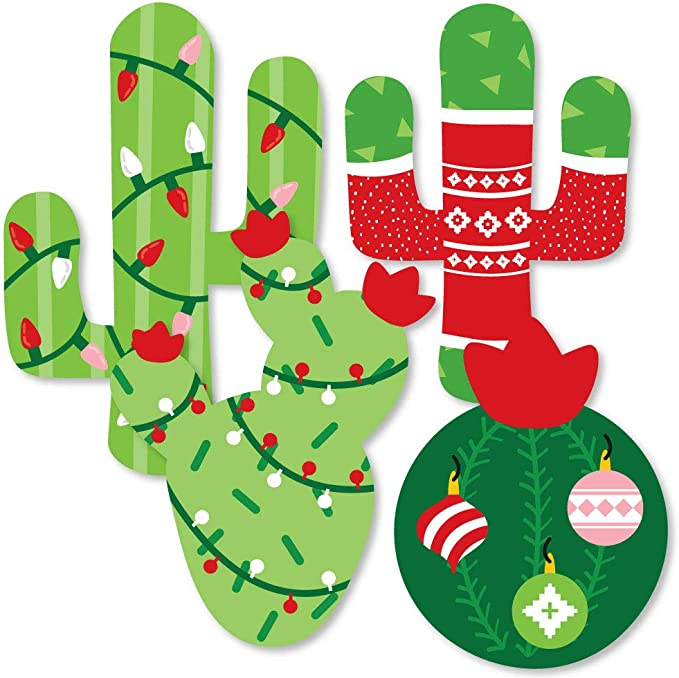 Merry Cact-Mas Christmas Cactus Headband One Size Fits Most Adults