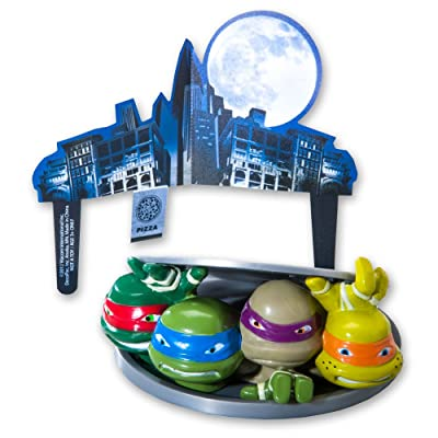 Teenage Mutant Ninja Turtles - Turtles to Action DecoSet Cake Decoration: Toys & Games
