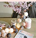 Rattan Ball String Lights with Remote,35 Handmade Wooden Rattan Ball LED Lights for Indoor,Bedroom,Curtain,Patio,Lawn,Landscape,Fairy Garden,Home,Wedding,Holiday,Christmas Tree,Party (Grey)