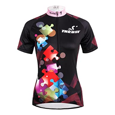 1b4df965f Amazon.com  QinYing Outdoor Breathable Short Sleeve Cycling Jersey For Women   Clothing
