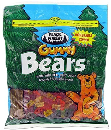 Amazon.com : Black Forest Gummy Bears - 5lb Resealable Bag : Gummy ...