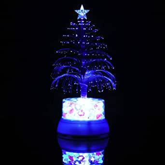 Mini Colorful LED Fiber Optic Nightlight Christmas Tree Xmas Lamp Light Décor GW
