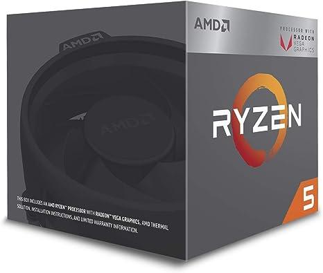 AMD RYZEN 5 2400G Quad-Core 3.6 GHz 3.9 Turbo Socket AM4 65W Desktop Processor