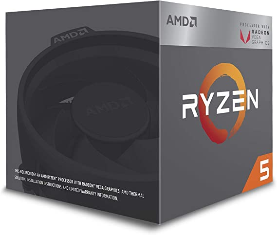 Amazon Com Amd Ryzen 5 2400g Processor With Radeon Rx Vega 11 Graphics Yd2400c5fbbox Computers Accessories