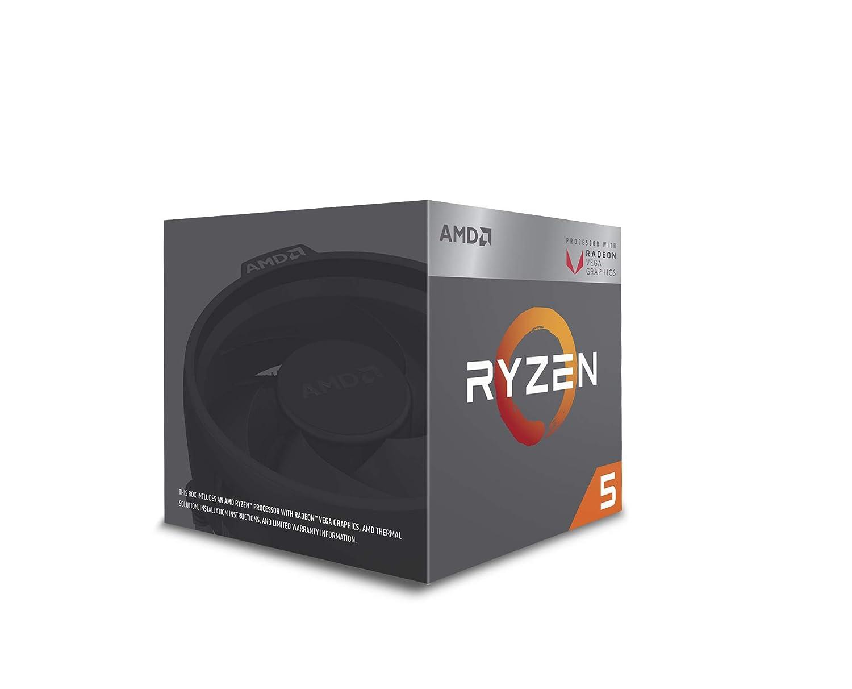 AMD Ryzen 5 2400G Processor with Radeon Vega 11 Graphics - Wraith Stealth  Cooler - YD2400C5FBBOX