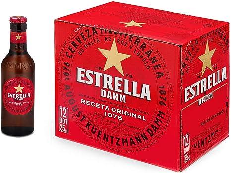 Estrella Damm, Cerveza Mediterránea - Paquete de 12 botellas x 250 ml, Total: 3000 ml: Amazon.es: Alimentación y bebidas