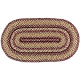 IHF Home Decor Oval Accent Floor Carpet Braided Rug 27 x 48 Inch Jute Fiber Checkerberry Design Review