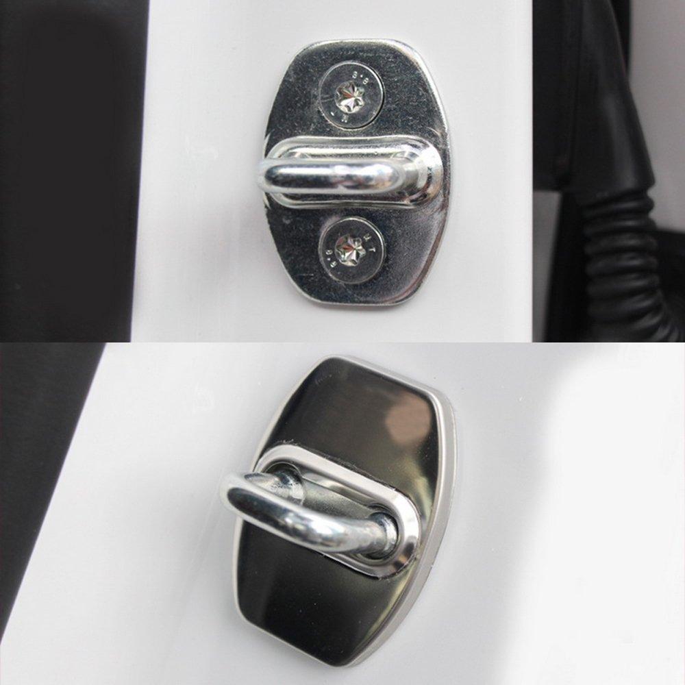 HEVROLET Cruze 2015 2016 Car Styling 4pcs Cubierta de la protecci/ón de la cerradura de puerta del coche del acero inoxidable 4PCS Set Set para C