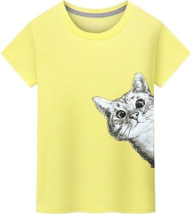 Gusspower Camiseta Estampada Gato de la Moda, Camisas Hombre de Manga Corta Blusa Tops Polos Camisas(Muchos Colores): Amazon.es: Ropa y accesorios