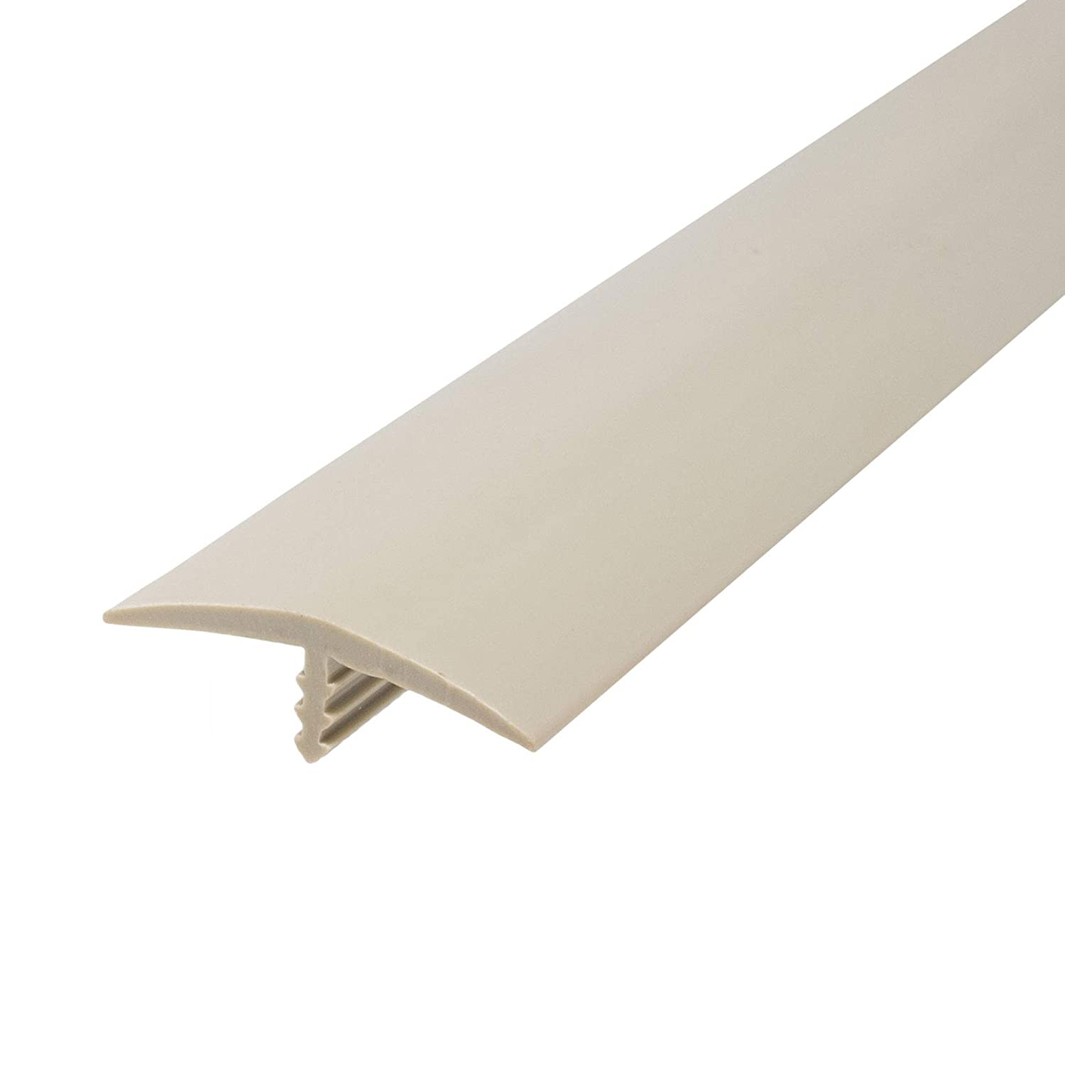 Outwater Plastic T-molding 1-1//4 Inch Putty Grey Flexible Polyethylene Center Barb Tee Moulding 250 Foot Coil