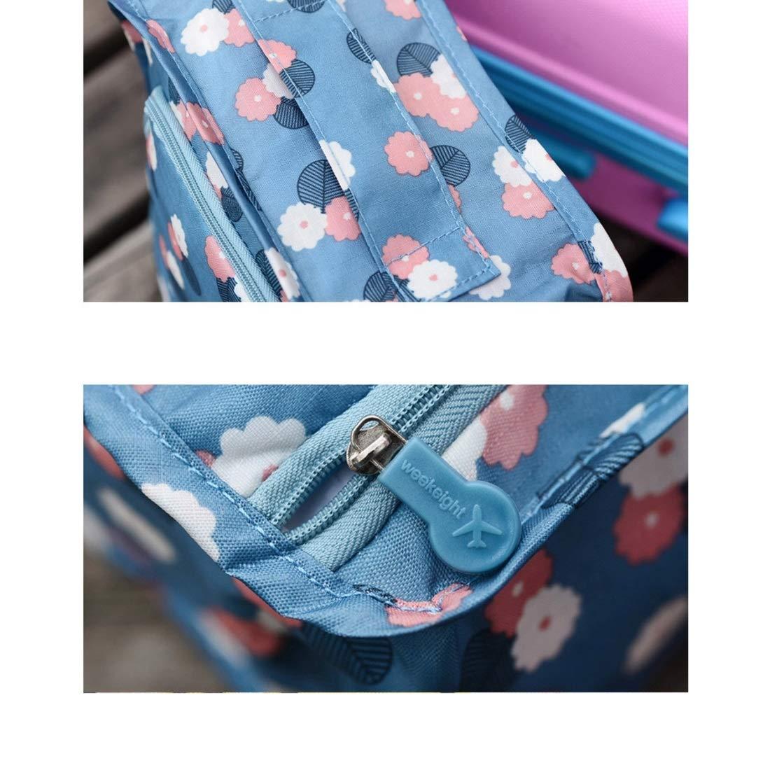 Color : Blue Daisy Lieyliso Bolsos de Viaje port/átiles Bolsos Organizador de Zapatos Bolsa de Almacenamiento para Viajes Diarios